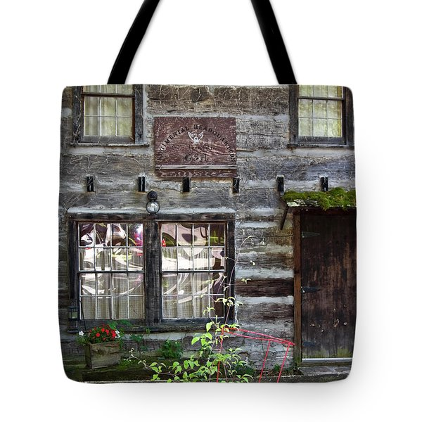 Old Log Building Tote Bag