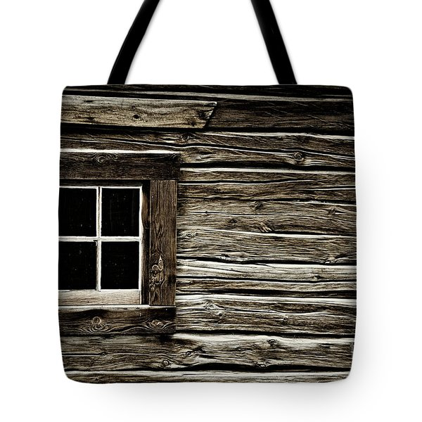 Tote Bag featuring the photograph Old Log Cabin by Brad Allen Fine Art