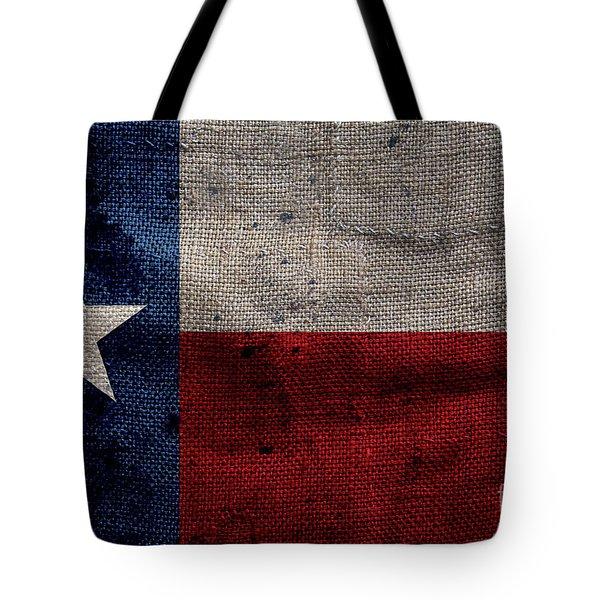 Old Lone Star Flag Tote Bag by Jon Neidert