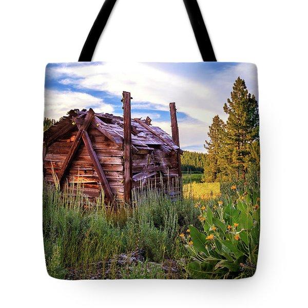 Old Lumber Mill Cabin Tote Bag
