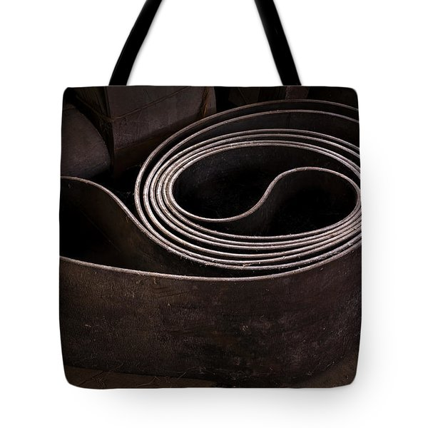 Old Machine Belt Tote Bag