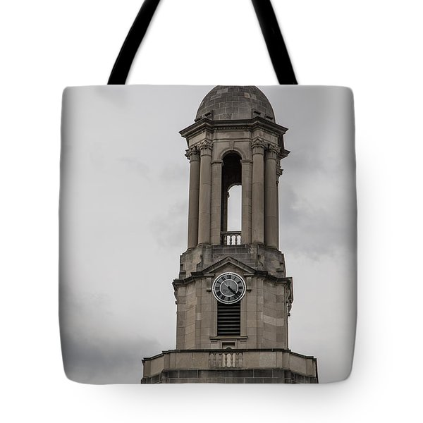 Old Main From Front Clock Tote Bag by John McGraw