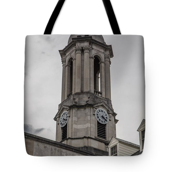 Old Main Penn State Clock  Tote Bag by John McGraw