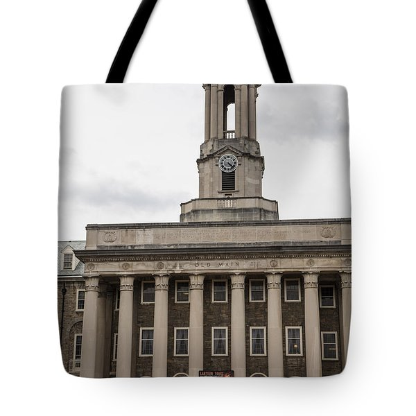 Old Main Penn State From Front  Tote Bag