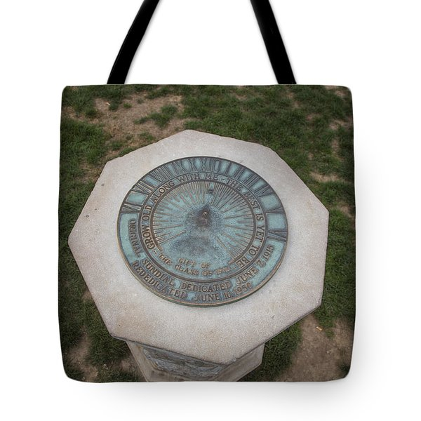 Old Main Statue  Tote Bag by John McGraw