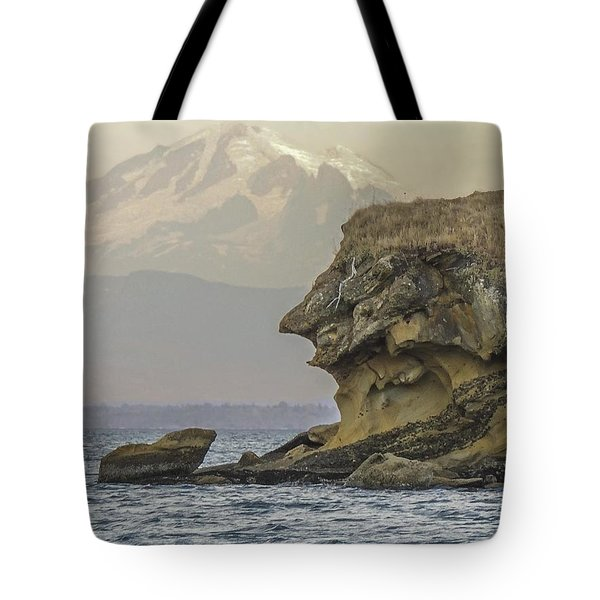 Old Man And The Mountain Tote Bag