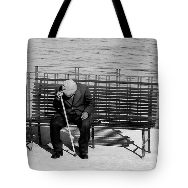 Old Man By The Sea Tote Bag by Robert Lacy