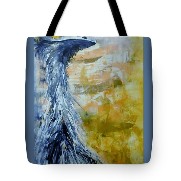 Tote Bag featuring the painting Old Man Emu by Lyn Olsen