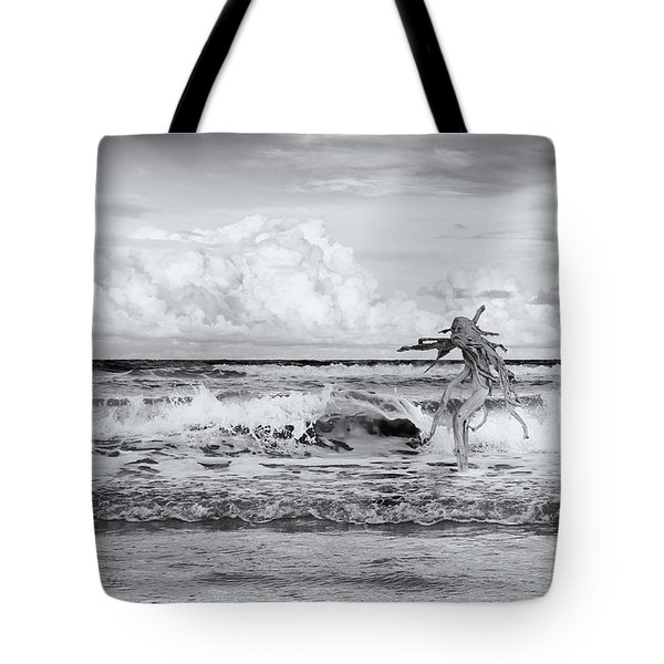 Old Man In The Sea Tote Bag by Carolyn Dalessandro