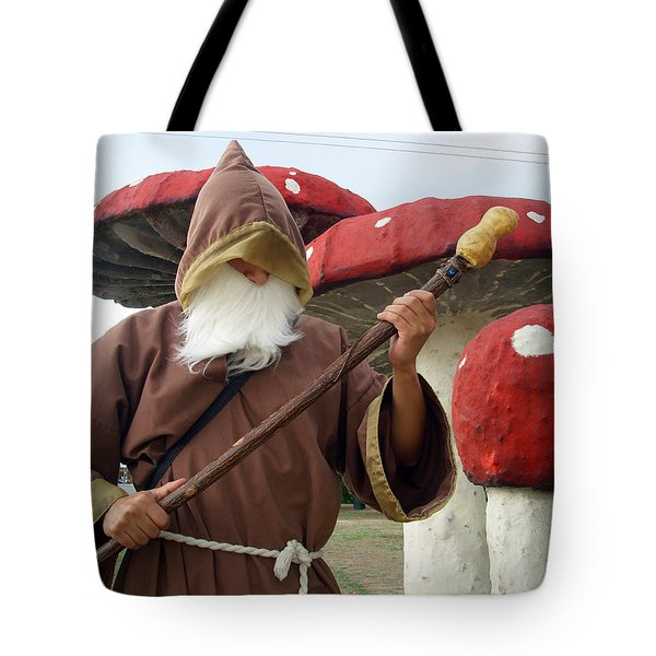 Old Man In Wonderland Tote Bag