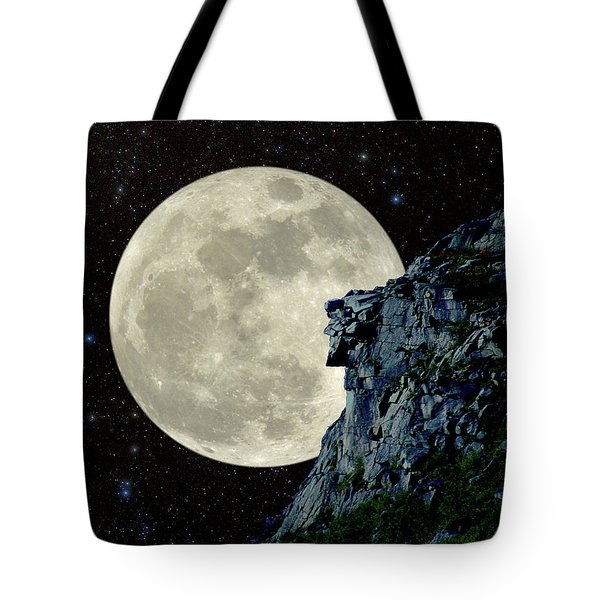 Old Man / Man In The Moon Tote Bag
