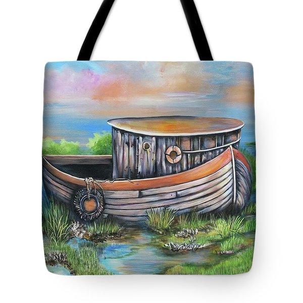 Old Mans Boat Tote Bag