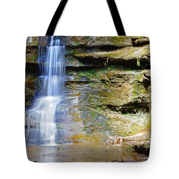 Old Man's Cave Waterfall Tote Bag