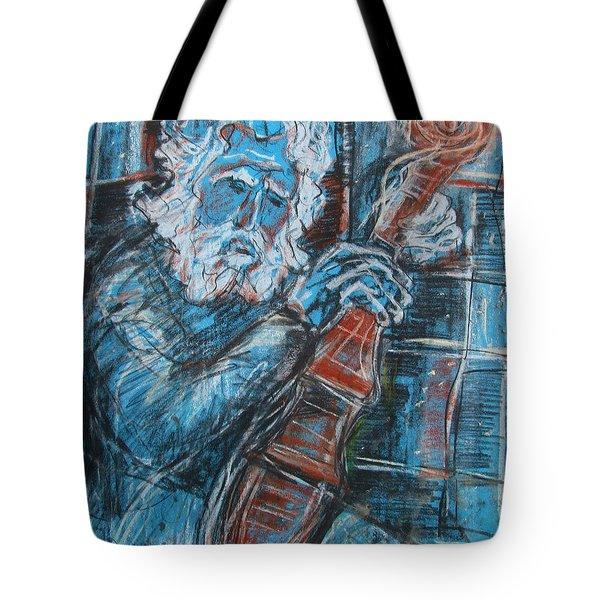 Old Man's Violin Tote Bag