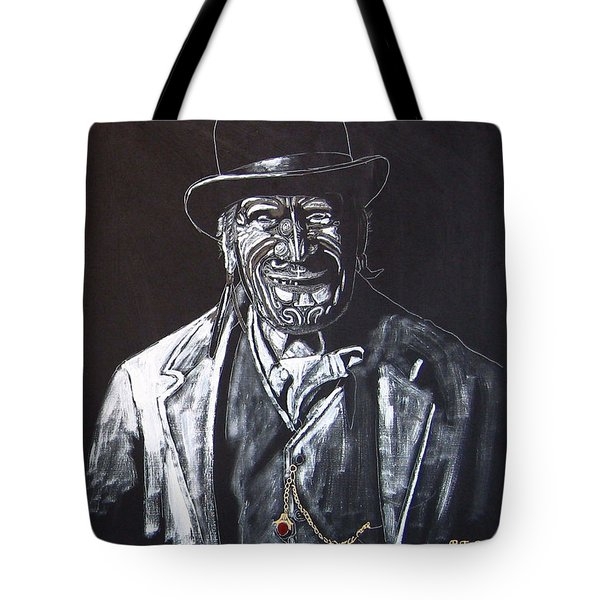 Tote Bag featuring the painting Old Maori Tane by Richard Le Page