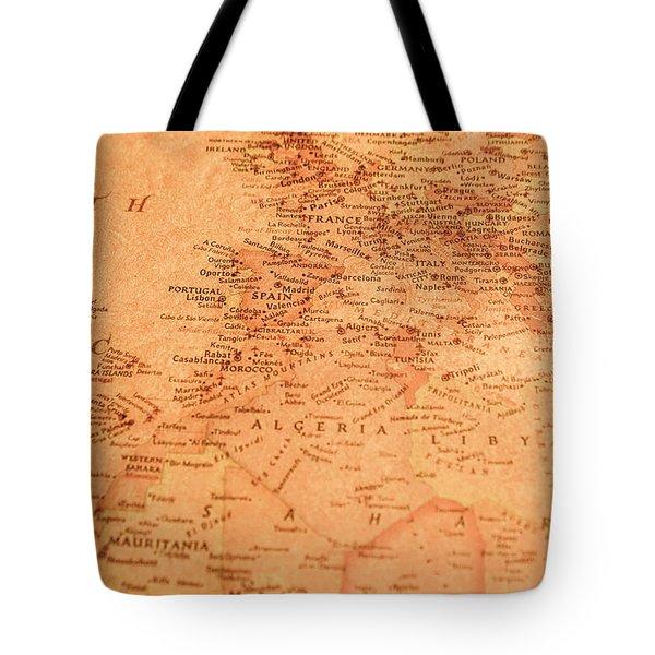 Old Maritime Map Tote Bag