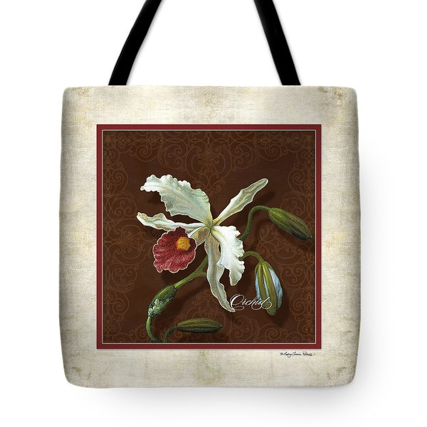 Old Masters Reimagined - Cattleya Orchid Tote Bag
