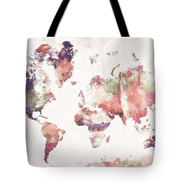 Old Memories World Map Tote Bag