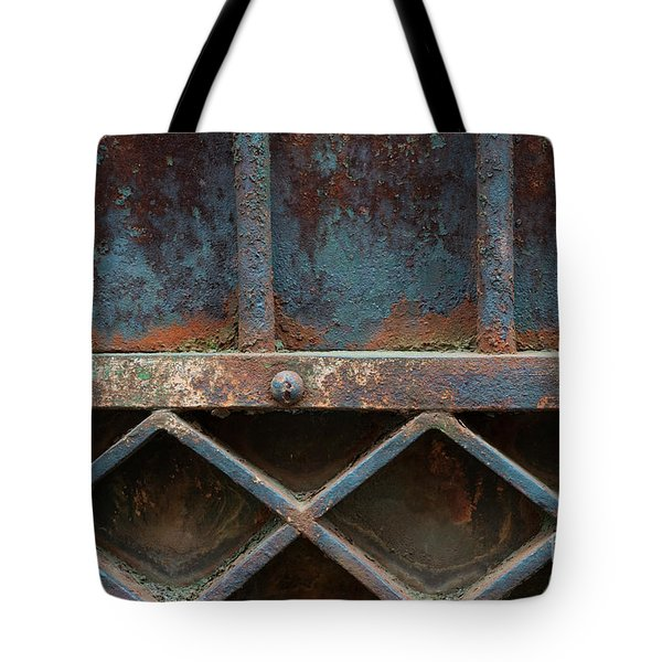 Tote Bag featuring the photograph Old Metal Gate Detail by Elena Elisseeva