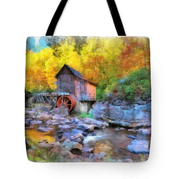 Old Mill Aquarelle Tote Bag