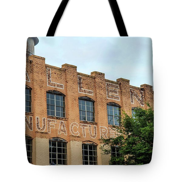Tote Bag featuring the photograph Old Mill Building In Buford by Doug Camara