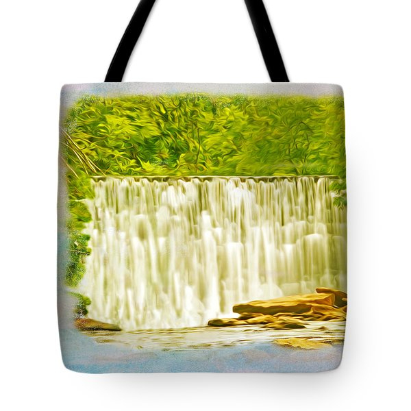 Old Mill Dam Roswell Georgia Tote Bag
