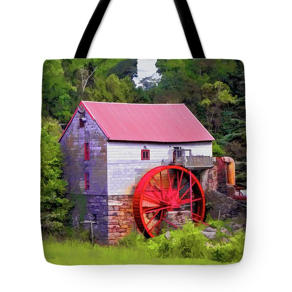 Old Mill Of Guilford Painted Square Tote Bag