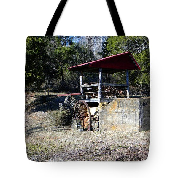 Tote Bag featuring the photograph Old Mill Of Guilford Pumphouse by Sandi OReilly