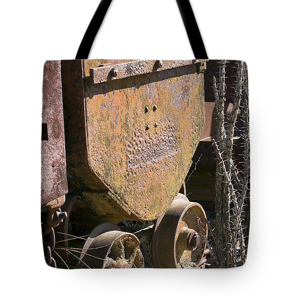 Tote Bag featuring the photograph Old Mining Car by Phyllis Denton
