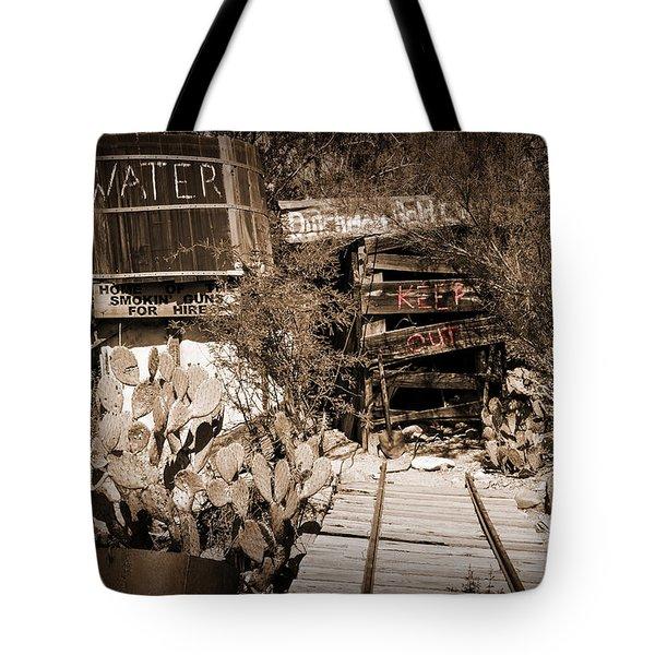 Old Mining Tracks Tote Bag