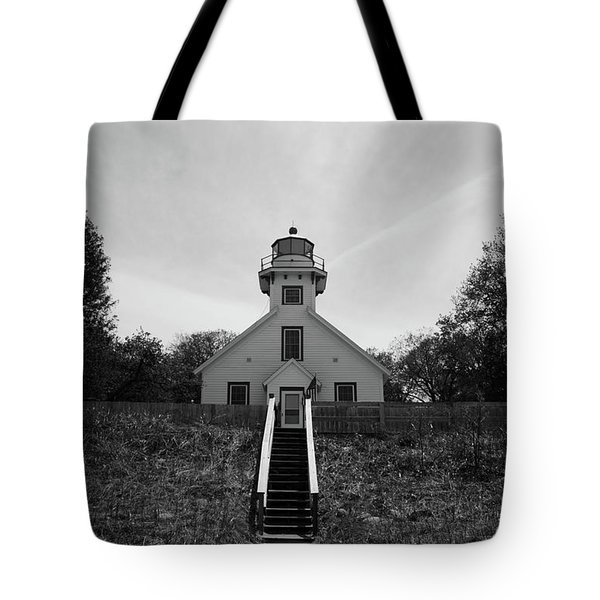 Old Mission Point Lighthouse Tote Bag by Joann Copeland-Paul