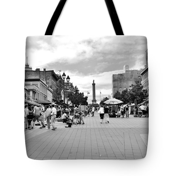 Old Montreal Jacques Cartier Square Tote Bag