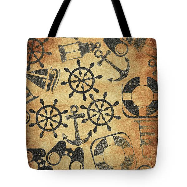 Old Nautical Parchment Tote Bag