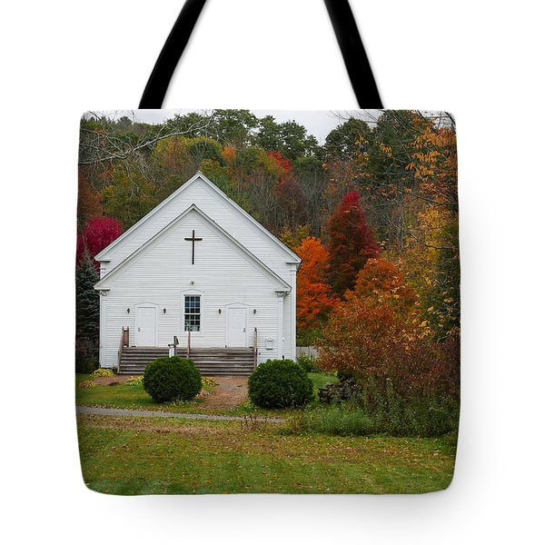 Old New England Church Tote Bag