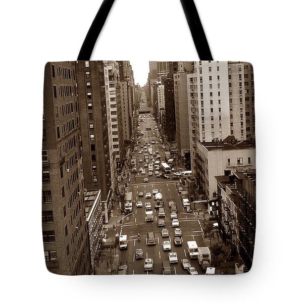 Old New York Photo - 10th Avenue Traffic Tote Bag