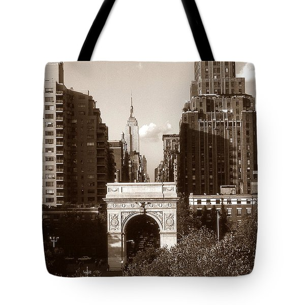 Washington Arch And New York University Tote Bag