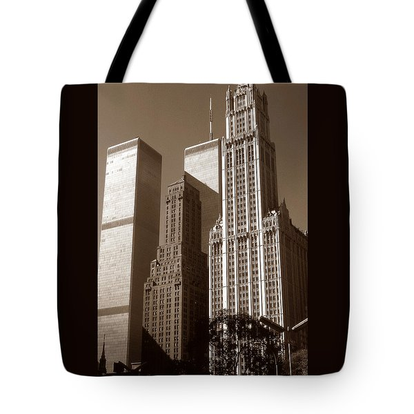 Old New York Photo - Woolworth Building Tote Bag