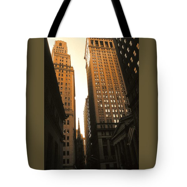 Old New York Wall Street Tote Bag
