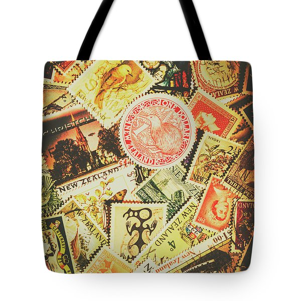 Old New Zealand Stamps Tote Bag