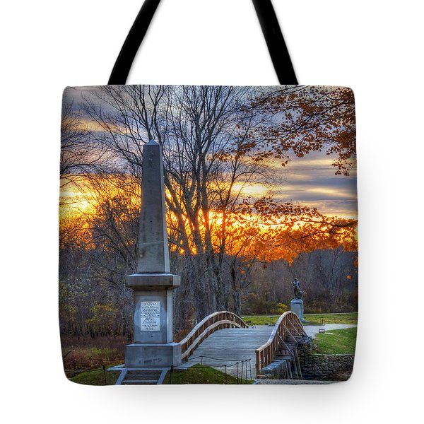 Old North Bridge - Concord Ma Tote Bag