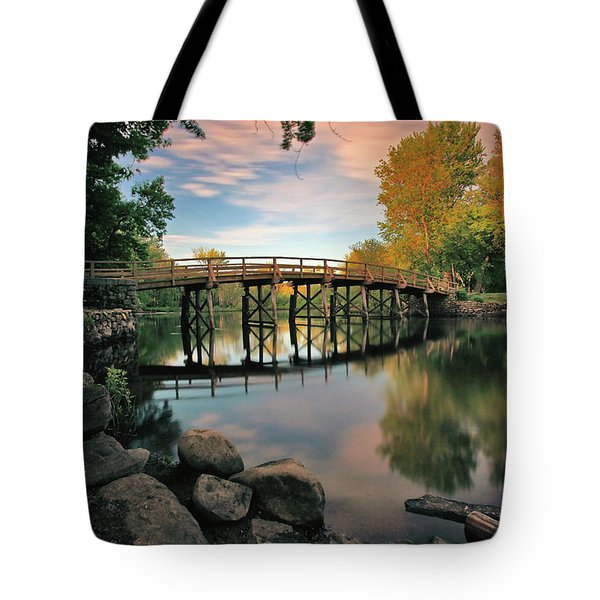 Old North Bridge Tote Bag by Rick Berk
