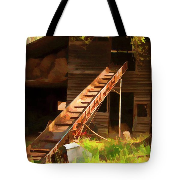 Old North Carolina Barn And Rusty Equipment   Tote Bag