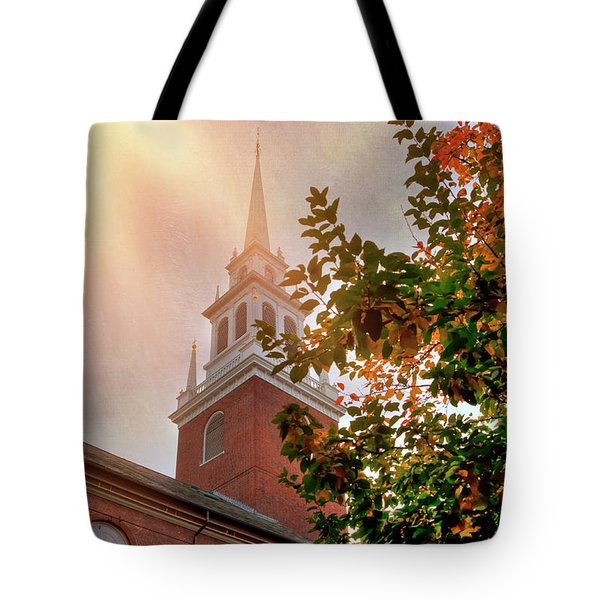 Tote Bag featuring the photograph Old North Church - Boston by Joann Vitali