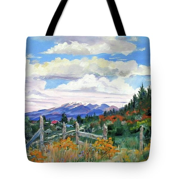 Old North Fence-in Colorado Tote Bag