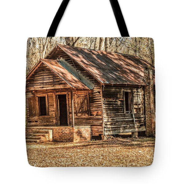 Old One Room School House Tote Bag by Phillip Burrow