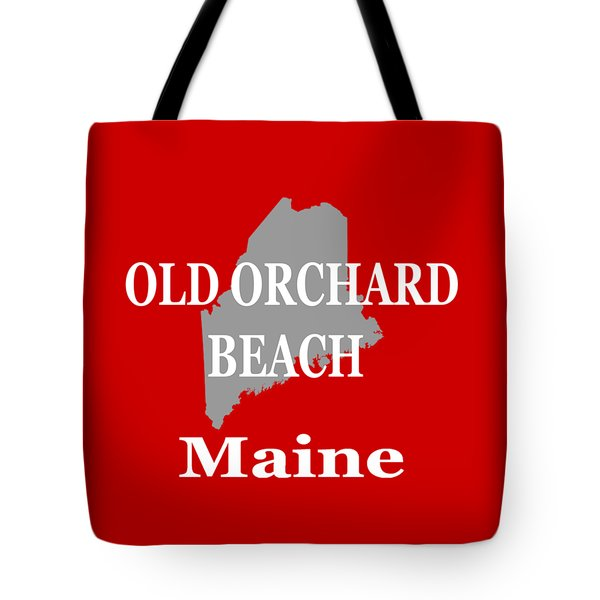 Tote Bag featuring the photograph Old Orchard Beach Maine State City And Town Pride  by Keith Webber Jr