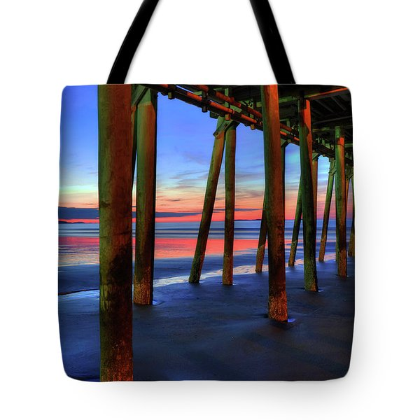 Tote Bag featuring the photograph Old Orchard Beach Pier -maine Coastal Art by Joann Vitali