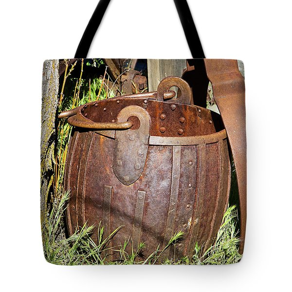Old Ore Bucket Tote Bag by Phyllis Denton