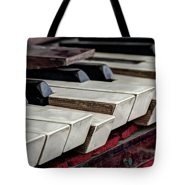 Tote Bag featuring the photograph Old Organ Keys by Michal Boubin