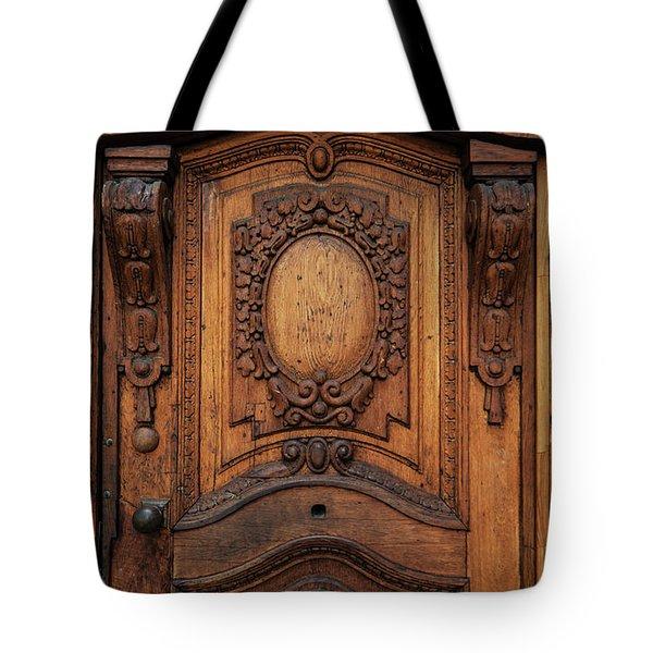 Old Ornamented Wooden Doors Tote Bag by Jaroslaw Blaminsky